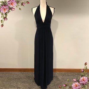 TBAGSLOSANGELES stunning halter navy blue dress